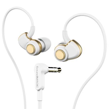 """Fülhallgató, SOUNDMAGIC """"PL30+"""", fehér-arany SMFHPL30WG"""